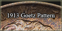 1913 Goetz pattern button