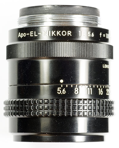 apo el-nikkor 105 side view
