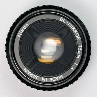 el-nikkor 75 top view